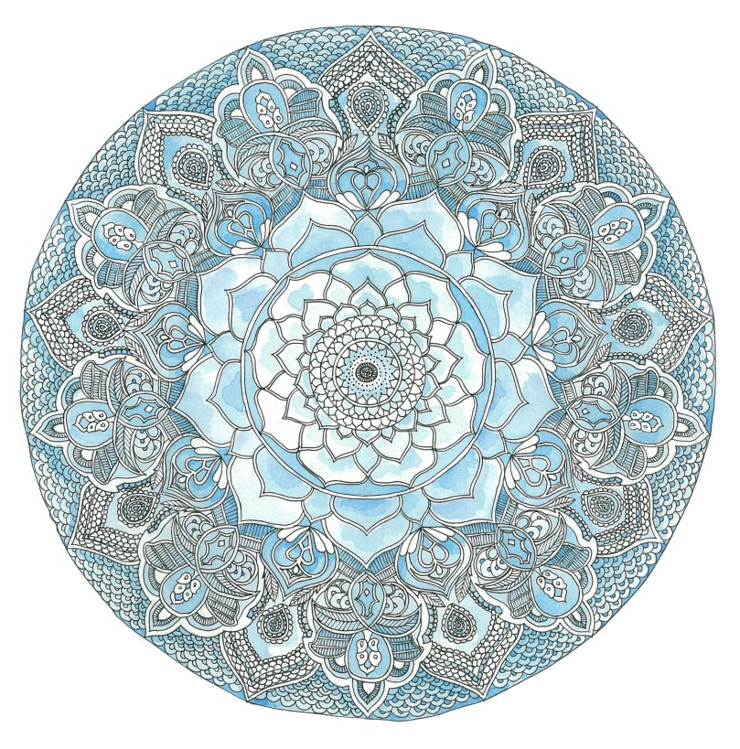 blue lotus mandala